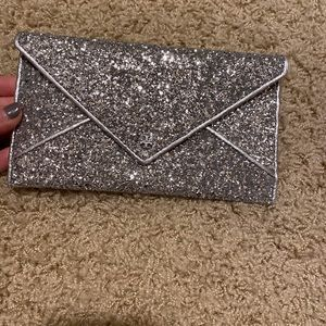 NWT Silver sparkle Tory Burch wallet